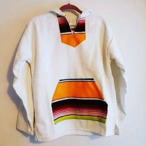 Hooded Baja Pullover Top by Gemini Mermaids L XL